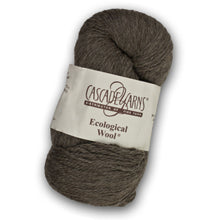 Load image into Gallery viewer, Skein of Cascade Ecological Wool Bulky weight yarn in the color Gun Metal (Brown) for knitting and crocheting.