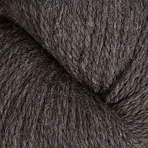 Skein of Cascade Ecological Wool Bulky weight yarn in the color Gun Metal (Brown) for knitting and crocheting.