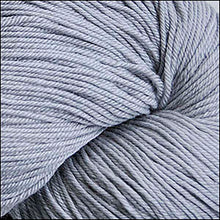 Load image into Gallery viewer, Skein of Cascade Heritage Silk Sock weight yarn in the color Grey (Gray) for knitting and crocheting.