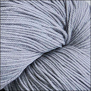 Skein of Cascade Heritage Silk Sock weight yarn in the color Grey (Gray) for knitting and crocheting.