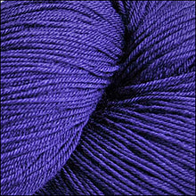 Load image into Gallery viewer, Skein of Cascade Heritage Silk Sock weight yarn in the color Italian Plum (Purple) for knitting and crocheting.