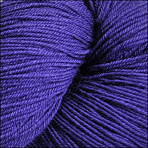 Skein of Cascade Heritage Silk Sock weight yarn in the color Italian Plum (Purple) for knitting and crocheting.