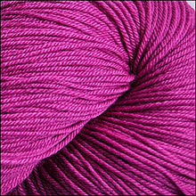 Load image into Gallery viewer, Skein of Cascade Heritage Silk Sock weight yarn in the color Raspberry (Purple) for knitting and crocheting.