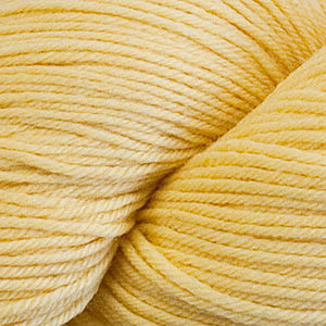 Skein of Cascade Heritage Sock weight yarn in the color Lemon (Yellow) for knitting and crocheting.