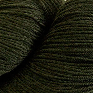 Skein of Cascade Heritage Sock weight yarn in the color Mossy Rock (Green) for knitting and crocheting.