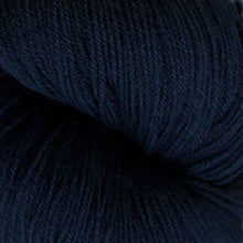 Load image into Gallery viewer, Skein of Cascade Heritage Sock weight yarn in the color Navy (Blue) for knitting and crocheting.