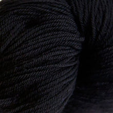 Load image into Gallery viewer, Skein of Cascade Heritage Sock weight yarn in the color Real Black (Black) for knitting and crocheting.