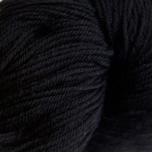 Skein of Cascade Heritage Sock weight yarn in the color Real Black (Black) for knitting and crocheting.