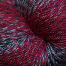 Load image into Gallery viewer, Skein of Cascade Heritage Wave Sock weight yarn in the color Checkers (Red) for knitting and crocheting.