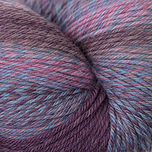 Load image into Gallery viewer, Skein of Cascade Heritage Wave Sock weight yarn in the color Dried Flowers (Gray) for knitting and crocheting.