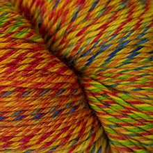 Load image into Gallery viewer, Skein of Cascade Heritage Wave Sock weight yarn in the color Rainbow (Multi) for knitting and crocheting.