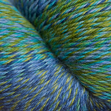 Load image into Gallery viewer, Skein of Cascade Heritage Wave Sock weight yarn in the color Tropical (Green) for knitting and crocheting.