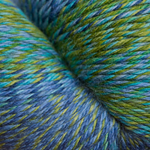 Skein of Cascade Heritage Wave Sock weight yarn in the color Tropical (Green) for knitting and crocheting.