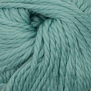 Skein of Cascade Llana Grande Super Bulky weight yarn in the color Agate Green (Blue) for knitting and crocheting.