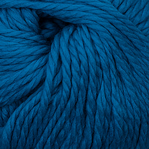 Skein of Cascade Llana Grande Super Bulky weight yarn in the color Azure (Blue) for knitting and crocheting.