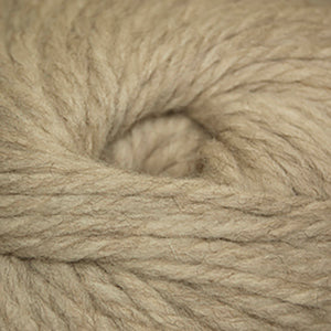 Skein of Cascade Llana Grande Super Bulky weight yarn in the color Beige (Tan) for knitting and crocheting.