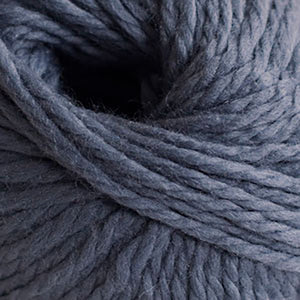 Skein of Cascade Llana Grande Super Bulky weight yarn in the color Blue Steel (Blue) for knitting and crocheting.
