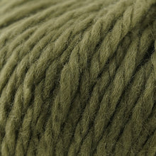 Load image into Gallery viewer, Skein of Cascade Llana Grande Super Bulky weight yarn in the color Cadmium Green (Green) for knitting and crocheting.