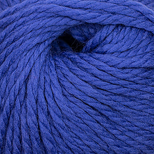 Skein of Cascade Llana Grande Super Bulky weight yarn in the color Deep Ultramarine (Blue) for knitting and crocheting.