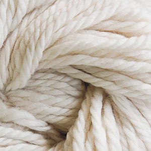 Skein of Cascade Llana Grande Super Bulky weight yarn in the color Ecru (Cream) for knitting and crocheting.