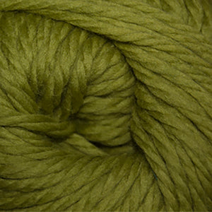 Skein of Cascade Llana Grande Super Bulky weight yarn in the color Granny Smith (Green) for knitting and crocheting.