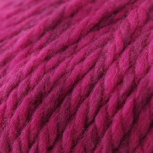 Load image into Gallery viewer, Skein of Cascade Llana Grande Super Bulky weight yarn in the color Hot Rod Pink (Pink) for knitting and crocheting.