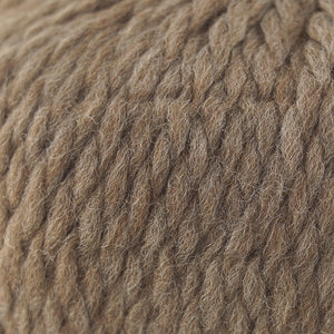 Skein of Cascade Llana Grande Super Bulky weight yarn in the color Latte (Brown) for knitting and crocheting.