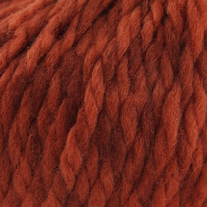 Skein of Cascade Llana Grande Super Bulky weight yarn in the color Sienna (Orange) for knitting and crocheting.