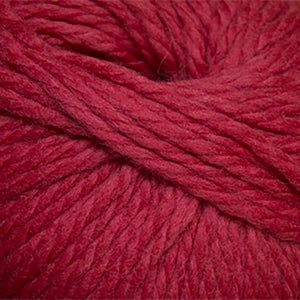 Skein of Cascade Llana Grande Super Bulky weight yarn in the color Tomato Puree (Red) for knitting and crocheting.
