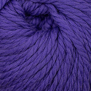 Skein of Cascade Llana Grande Super Bulky weight yarn in the color Ultra Violet (Purple) for knitting and crocheting.