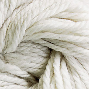 Skein of Cascade Llana Grande Super Bulky weight yarn in the color White (White) for knitting and crocheting.