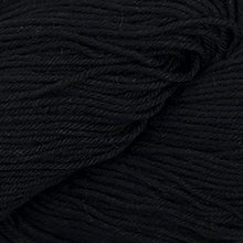 Load image into Gallery viewer, Skein of Cascade Nifty Cotton Worsted weight yarn in the color Black (Black) for knitting and crocheting.