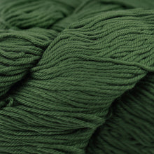 Load image into Gallery viewer, Skein of Cascade Nifty Cotton Worsted weight yarn in the color Chive (Green) for knitting and crocheting.