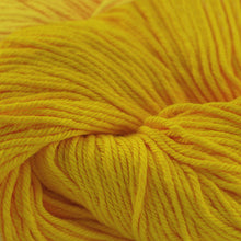 Load image into Gallery viewer, Skein of Cascade Nifty Cotton Worsted weight yarn in the color Gold (Yellow) for knitting and crocheting.