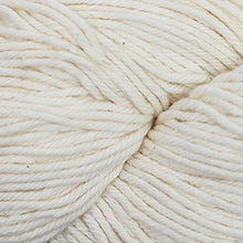 Load image into Gallery viewer, Skein of Cascade Nifty Cotton Worsted weight yarn in the color Natural (Cream) for knitting and crocheting.