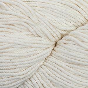 Skein of Cascade Nifty Cotton Worsted weight yarn in the color Natural (Cream) for knitting and crocheting.