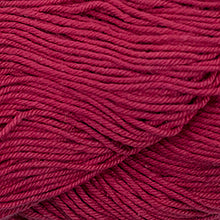 Load image into Gallery viewer, Skein of Cascade Nifty Cotton Worsted weight yarn in the color Red (Red) for knitting and crocheting.