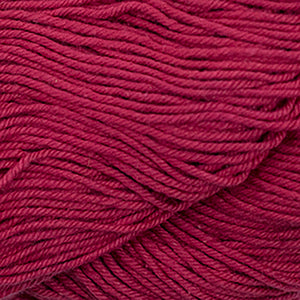 Skein of Cascade Nifty Cotton Worsted weight yarn in the color Red (Red) for knitting and crocheting.