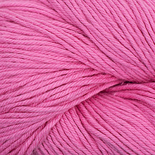 Load image into Gallery viewer, Skein of Cascade Nifty Cotton Worsted weight yarn in the color Rose Pink (Pink) for knitting and crocheting.