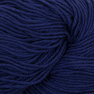 Skein of Cascade Nifty Cotton Worsted weight yarn in the color Sapphire (Blue) for knitting and crocheting.