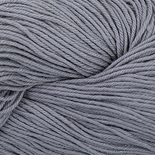 Load image into Gallery viewer, Skein of Cascade Nifty Cotton Worsted weight yarn in the color Silver (Gray) for knitting and crocheting.