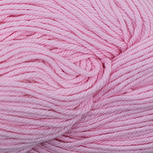Skein of Cascade Nifty Cotton Worsted weight yarn in the color Soft Pink (Pink) for knitting and crocheting.