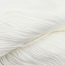 Load image into Gallery viewer, Skein of Cascade Nifty Cotton Worsted weight yarn in the color White  (White) for knitting and crocheting.