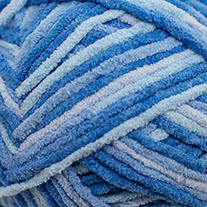 Skein of Cascade Pluff Bulky weight yarn in the color Blue (Blue) for knitting and crocheting.
