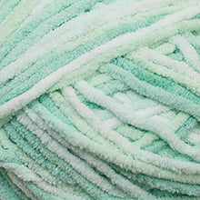 Load image into Gallery viewer, Skein of Cascade Pluff Bulky weight yarn in the color Mint (Green) for knitting and crocheting.