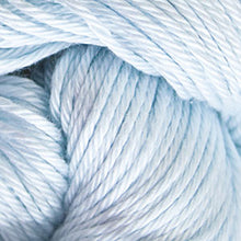 Load image into Gallery viewer, Skein of Cascade Ultra Pima DK weight yarn in the color Alaska Sky (Blue) for knitting and crocheting.