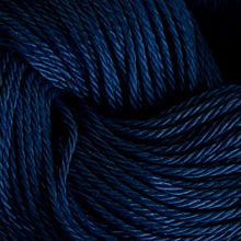 Load image into Gallery viewer, Skein of Cascade Ultra Pima DK weight yarn in the color Armada (Blue) for knitting and crocheting.