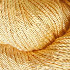 Skein of Cascade Ultra Pima DK weight yarn in the color Buttercup (Yellow) for knitting and crocheting.