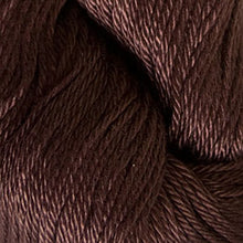 Load image into Gallery viewer, Skein of Cascade Ultra Pima DK weight yarn in the color Chocolate (Brown) for knitting and crocheting.