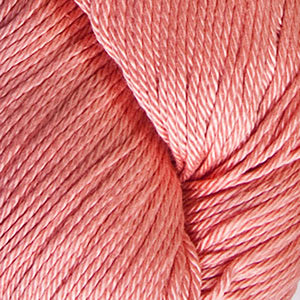 Skein of Cascade Ultra Pima DK weight yarn in the color Coral (Pink) for knitting and crocheting.